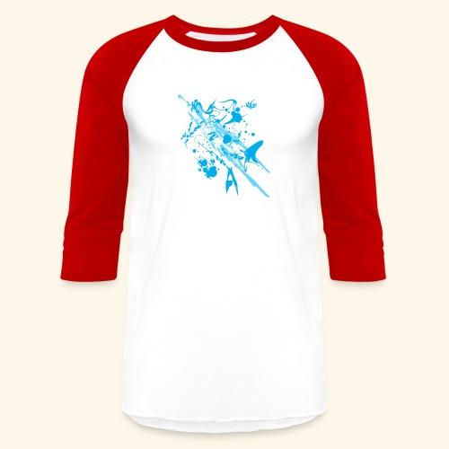 Blue Splash - Baseball T-Shirt