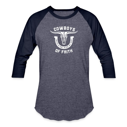 Cowboys of Faith - Unisex Baseball T-Shirt