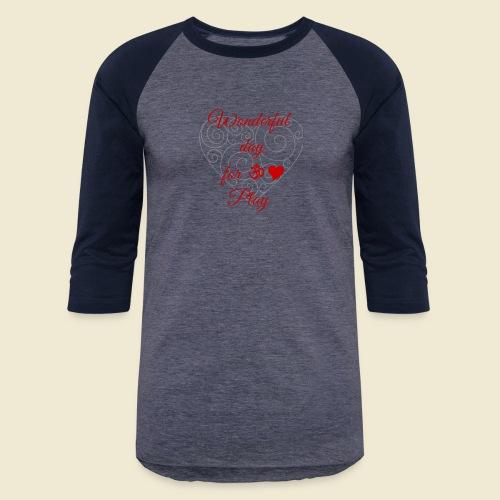 108-lSa Inspi-Shirt-85.b ... for OM-Love Play - Unisex Baseball T-Shirt