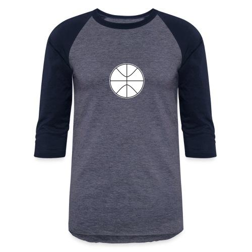Basketball black and white - Baseball T-Shirt