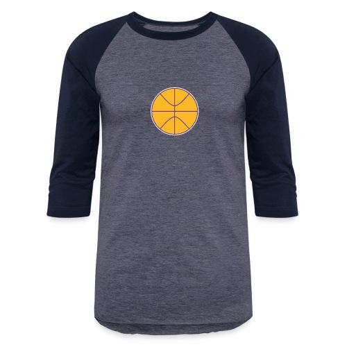 Basketball purple and gold - Baseball T-Shirt