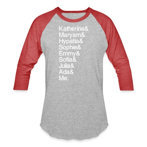 Women in Math & Me (at bottom) - Baseball T-Shirt