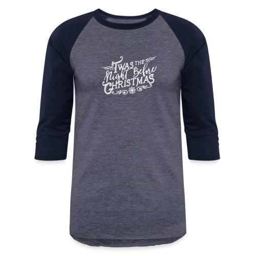 WHTChristmas Logo Final 3x - Baseball T-Shirt