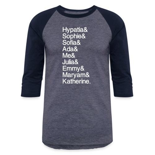 Women in Math & Me! - Unisex Baseball T-Shirt