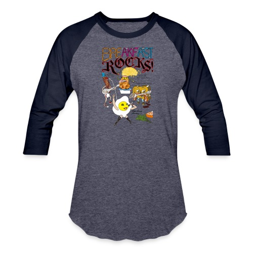 Breakfast Rocks! - Baseball T-Shirt