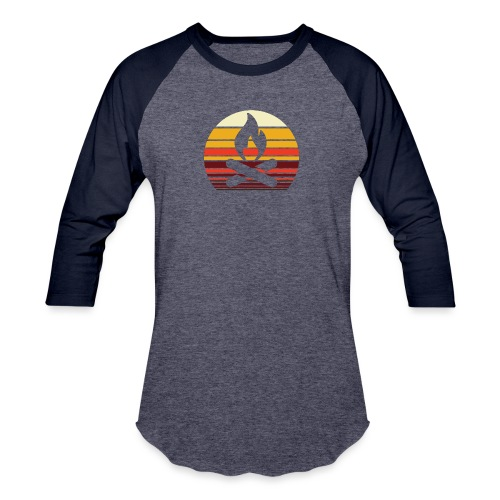 Campfire Sunset - Unisex Baseball T-Shirt