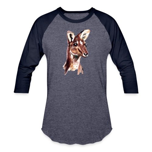 kangaroo face - Baseball T-Shirt