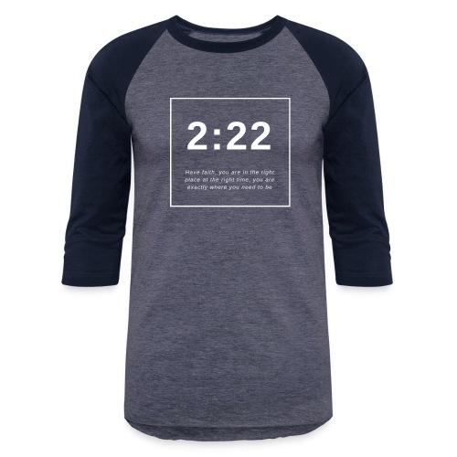Angel Number 2:22 - Baseball T-Shirt