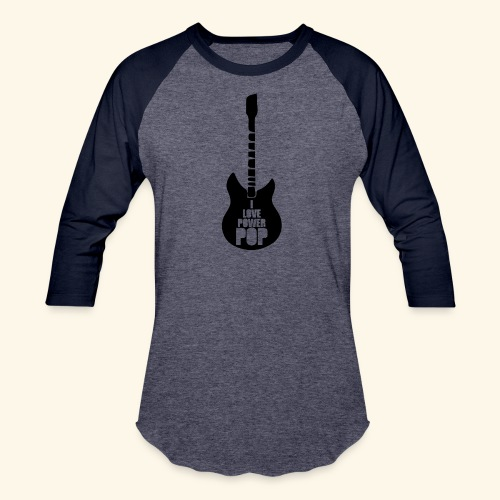 I Love Power Pop Guitar - Baseball T-Shirt