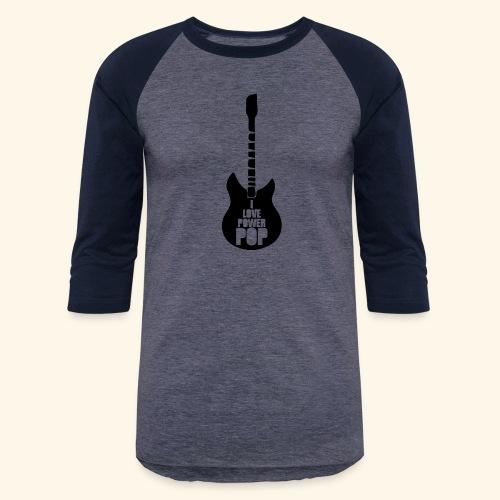 I Love Power Pop Guitar - Unisex Baseball T-Shirt
