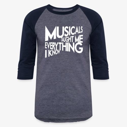 MTMEIK White Logo - Baseball T-Shirt
