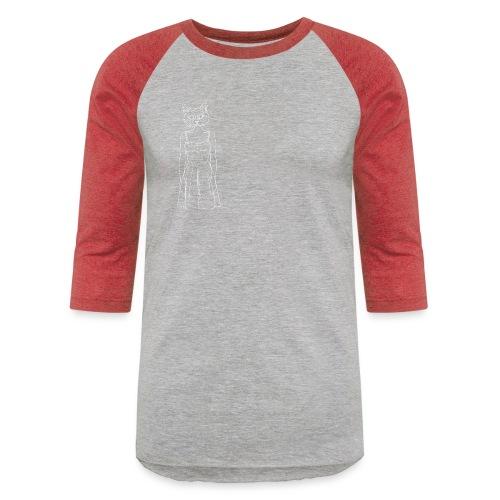 Hipster Cat - Unisex Baseball T-Shirt