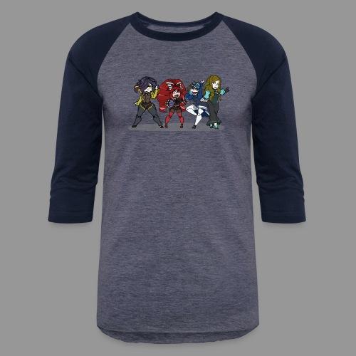 Chibi Autoscorers - Unisex Baseball T-Shirt