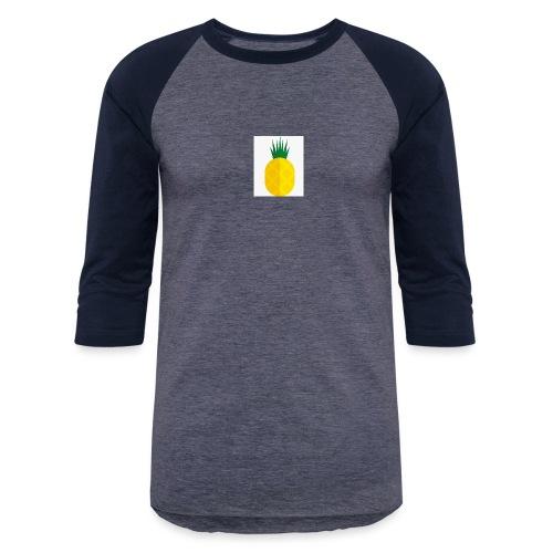 Pixel looking Pineapple - Baseball T-Shirt
