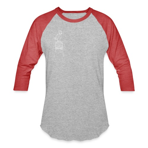Hipster Rabbit White - Unisex Baseball T-Shirt