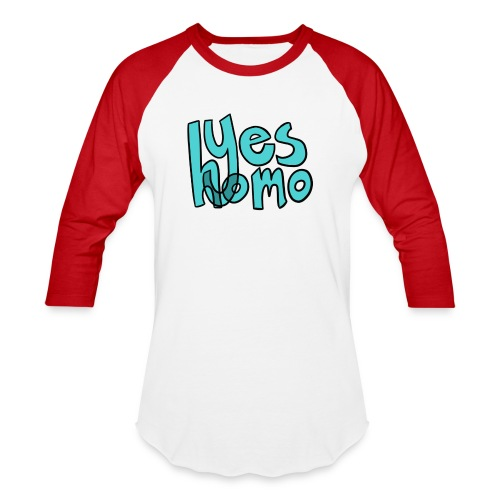 Yes Homo (Solid) - Baseball T-Shirt