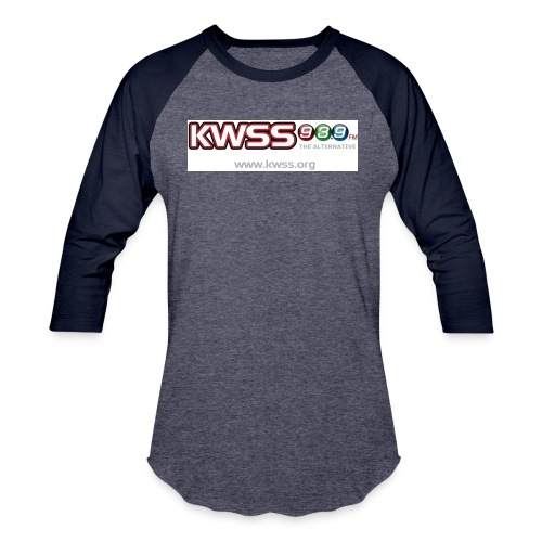 KWSS_939_W_WHT_the_alt - Unisex Baseball T-Shirt