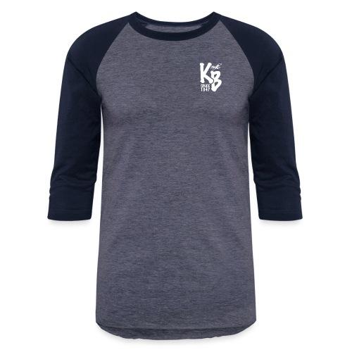 Kure Beach Sunrise-White Lettering-Front and Back - Baseball T-Shirt