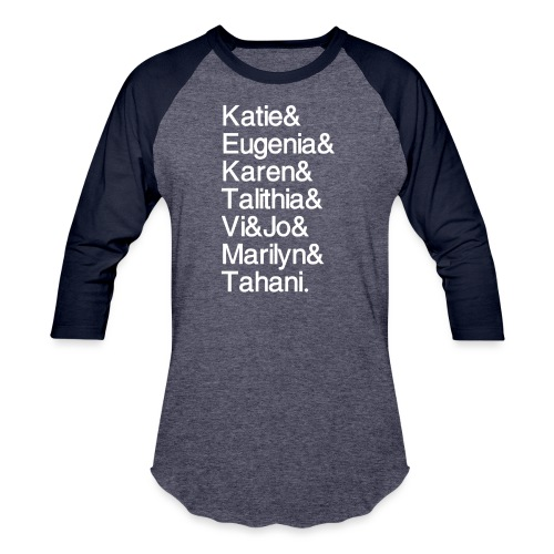 Math Gals 2019 w/ #MathGals hashtag - Unisex Baseball T-Shirt
