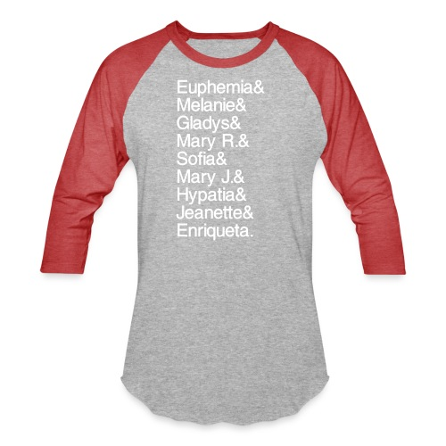 Math Gals 1sts with #MathGals hashtag - Unisex Baseball T-Shirt