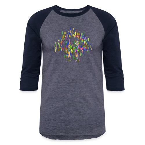 Stylized TWiT logo as rectangles - Unisex Baseball T-Shirt