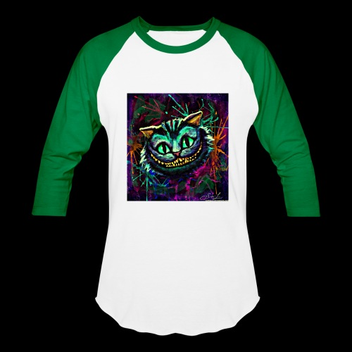 the cheshire cat by ex0tique - Baseball T-Shirt