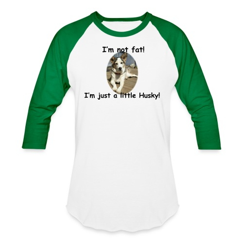 little Husky - Unisex Baseball T-Shirt