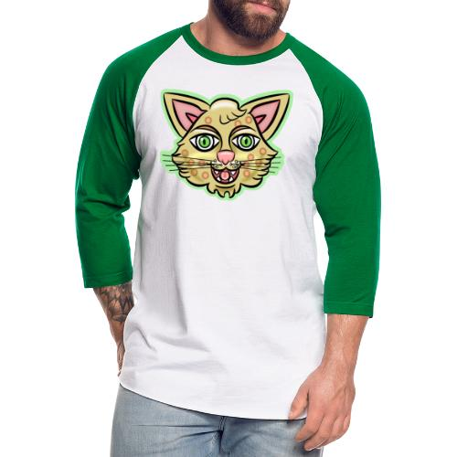 Happy Cat Gold - Unisex Baseball T-Shirt