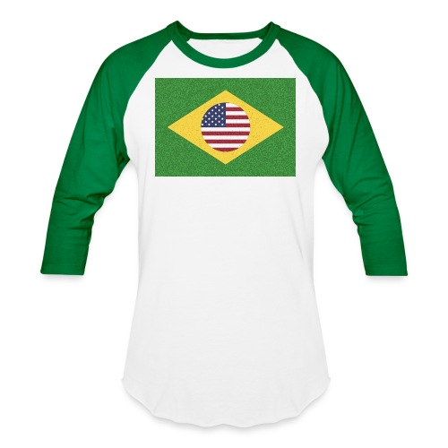 Brazil and USA Flag - Baseball T-Shirt
