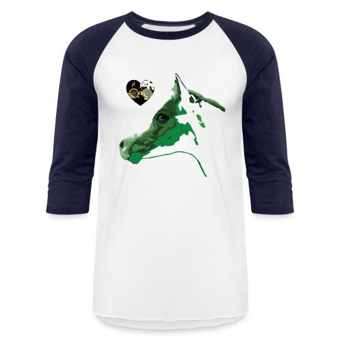 Spotted.Horse Appaloosa Colt Green - Unisex Baseball T-Shirt
