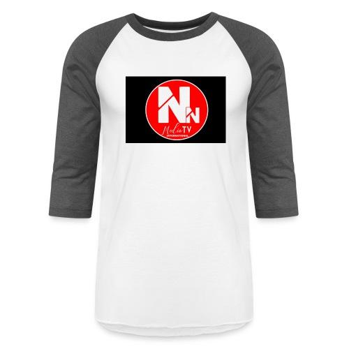 logo NN MEDIA TV - Unisex Baseball T-Shirt