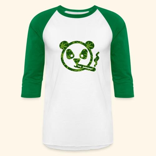 PANDA SMOKING - PANDAS STONER - CANNABISLEAF - Baseball T-Shirt