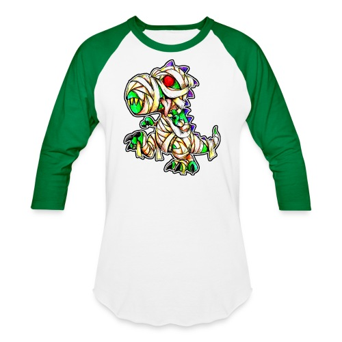 Halloween Mummy Trex - Baseball T-Shirt