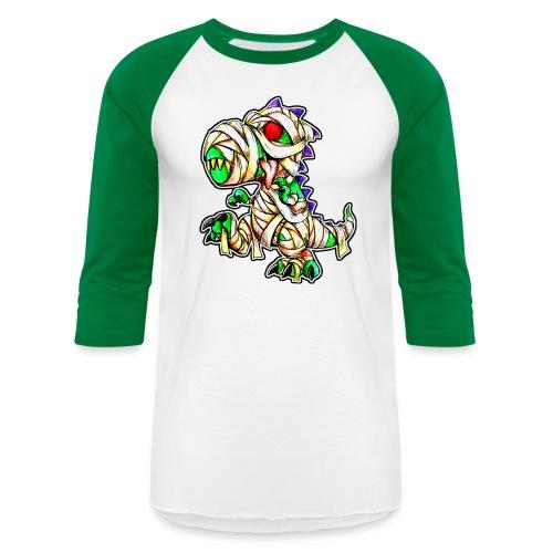 Halloween Mummy Trex - Unisex Baseball T-Shirt