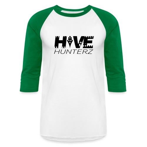Hive Hunterz Black Logo - Baseball T-Shirt