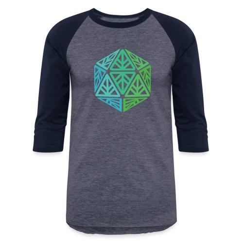 Green Leaf Geek Iconic Logo - Baseball T-Shirt
