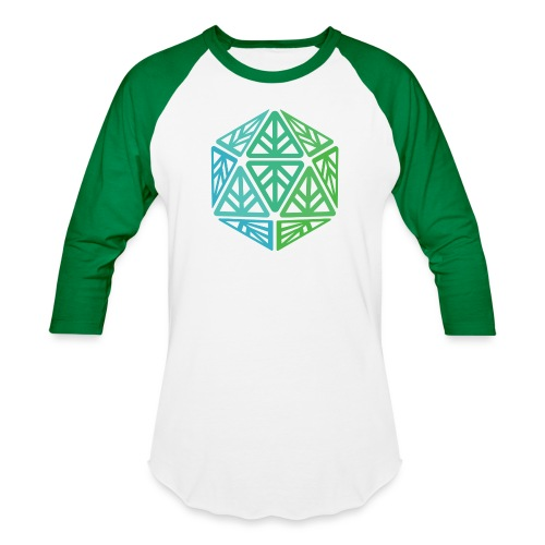 Green Leaf Geek Iconic Logo - Unisex Baseball T-Shirt