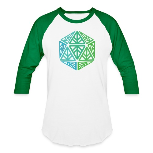 Green Leaf Geek Iconic Logo - Baseball T-Shirt