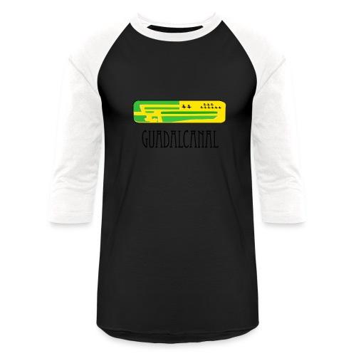 Guadalcanal AnA runway - Unisex Baseball T-Shirt