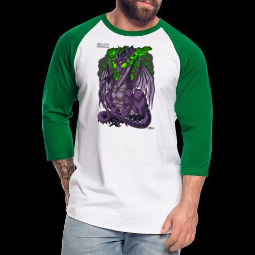 Purple Dragon - Unisex Baseball T-Shirt