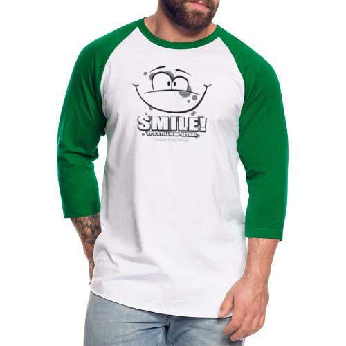 Smile - it's still non-lethal - Unisex Baseball T-Shirt