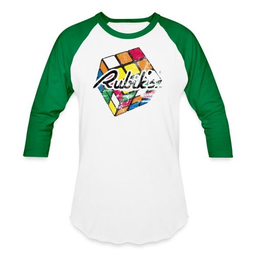 Rubik's Cube Distressed and Faded - Baseball T-Shirt
