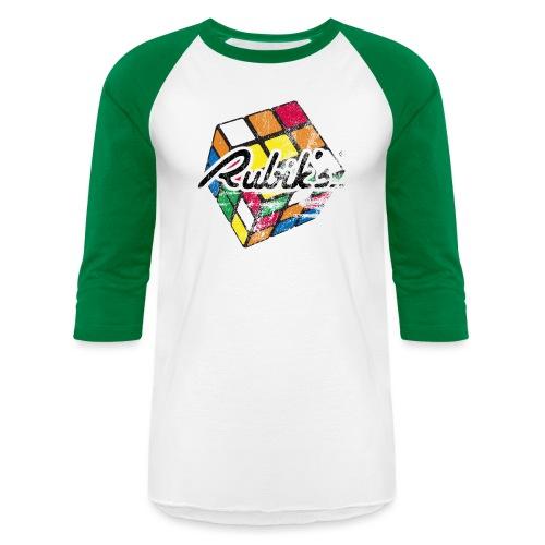 Rubik's Cube Distressed and Faded - Unisex Baseball T-Shirt