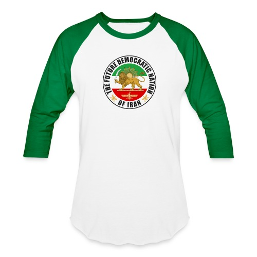 Iran Emblem Old Flag With Lion - Unisex Baseball T-Shirt