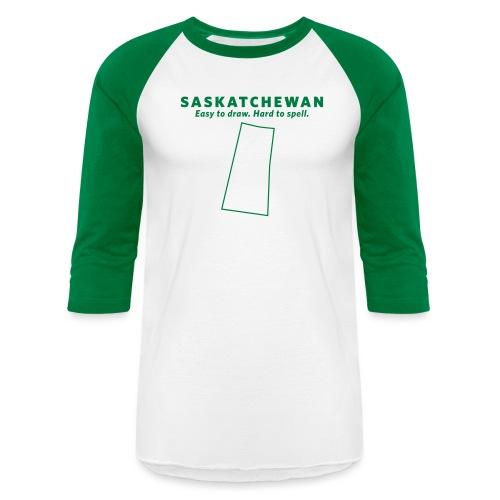 Saskatchewan - Unisex Baseball T-Shirt