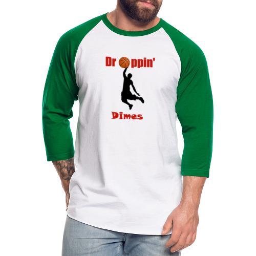 Basketball tshirt| Dropping Dimes |Dunk - Unisex Baseball T-Shirt