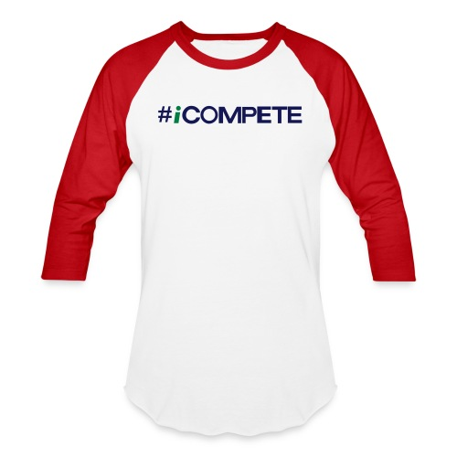 icompete_logo_final_outli - Unisex Baseball T-Shirt