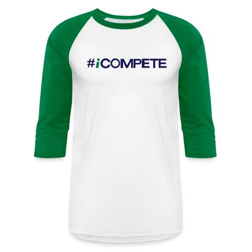 icompete_logo_final_outli - Baseball T-Shirt