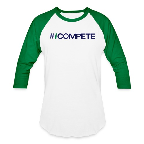 icompete_logo_final_outli - Unisex Baseball T-Shirt