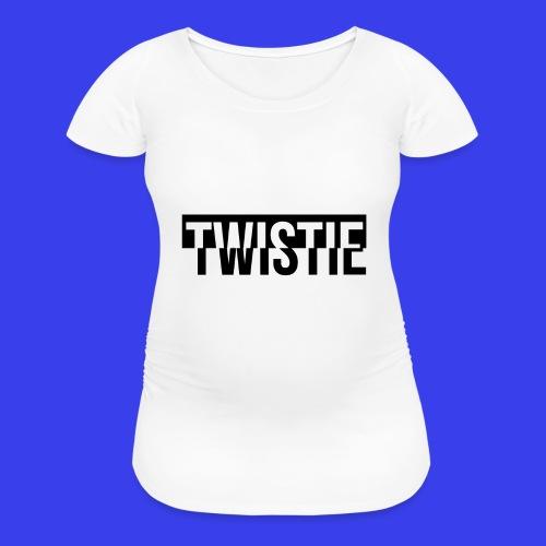 Inverted Twistie Logo Black - Women's Maternity T-Shirt